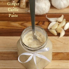 Homemade Ginger Garlic Paste