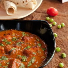 Mutter paneer - peas and indian cottage cheese gravy