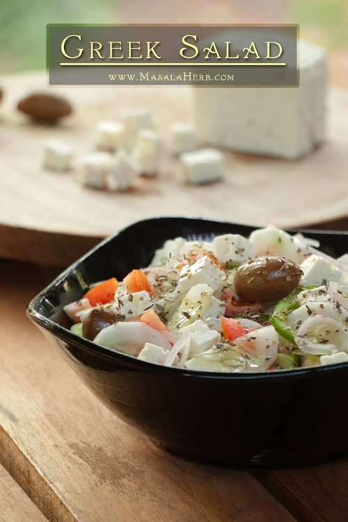 Greek Salad and Feta Cheese in India