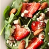 Spinach, strawberry, and goat cheese salad...