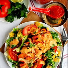 Chipotle-Mango BBQ Chicken Salad