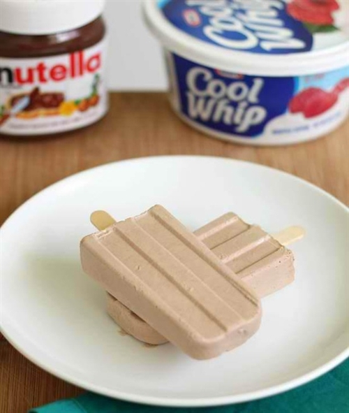 Nutella Coolwhip Popsicles