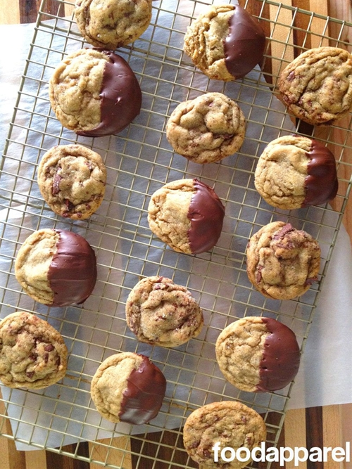 Chocolate Dipped Soft Ginger Cookies