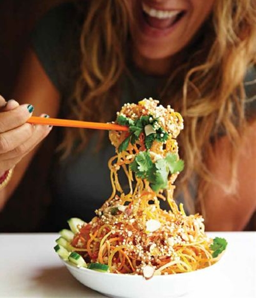 Tangled Thai Salad with Peanut Lime Dressing