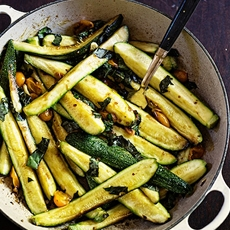 Braised Zucchini and Sun Gold Cherry Tomatoes
