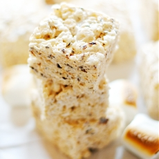 Toasted Marshmallow Rice Krispie Treats {and s'mores!}