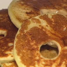 Carla Halls Fried Apple Pancake Rings