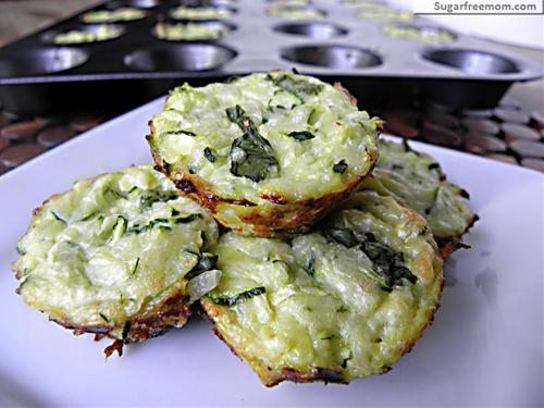 Mini Zucchini Cheese Bites recipe | Chefthisup