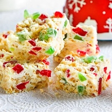 White Chocolate Rice Bubbles Slice