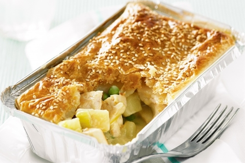Chicken, Leek And Green Pea Pies