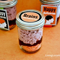 Brains in a Jar Cake