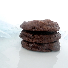 Salted Chocolate Shortbread Cookies