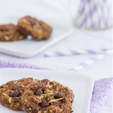Quinoa Chocolate Chip Zucchini Breakfast Cookies