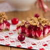 No bake Vegan Cranberry Cheesecake Squares