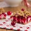 No bake Vegan Cranberry Cheesecake Squares