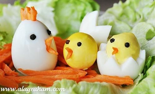 """Hard Boiled """"Chicken"""" Eggs"""