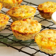 Mini Tuna, Corn & Sweet Potato Frittatas