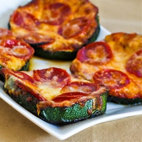 Grilled Zucchini Pizza Slices