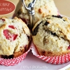 Chocolate Strawberry Muffins with Coconut