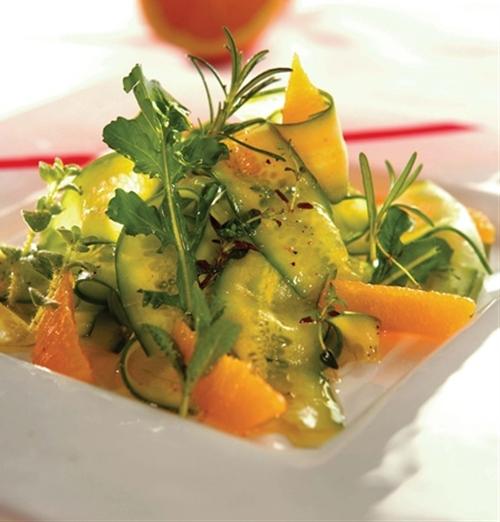 HCG Diet Cucumber Orange Salad