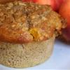 Sweet Peach Muffins with Brown Sugar Walnut Streusel