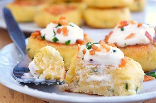 Loaded Mashed Potato Cakes