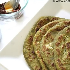 Hara Bhara Paratha-Stuffed Spinach Tortillas