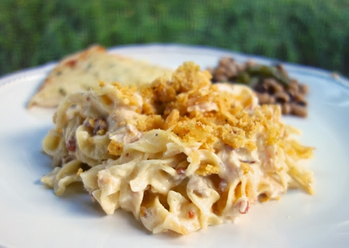 Cracked Out Chicken Noodle Casserole