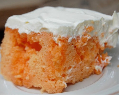 Orange Creamsicle Sherbet Cake
