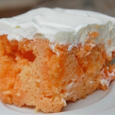 Orange Creamsicle Sherbet Cake