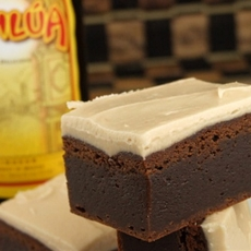 Kahlua Brownies with Brown Butter Icing