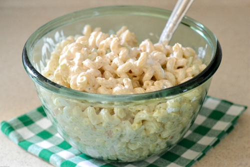 Sour Cream Cheddar Pasta Salad