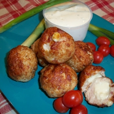 Chicken Cordon Bleu Balls