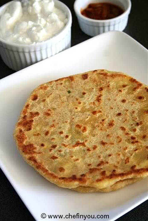 Cheese Paratha Recipe with Green Garlic
