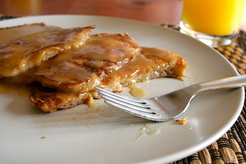 Apple Pancakes with Apple Cider Syrup