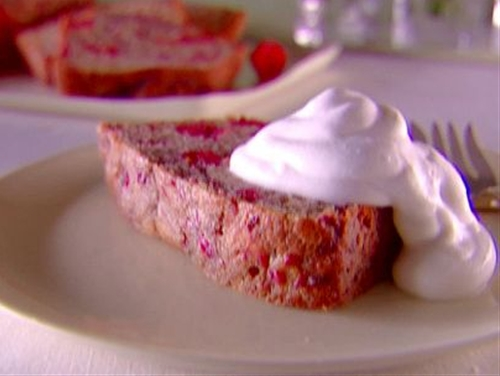 Raspberry Pound Cake with Vin Santo Cream