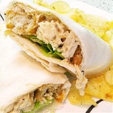 Slow Cooker Chicken Caesar Salad Wraps