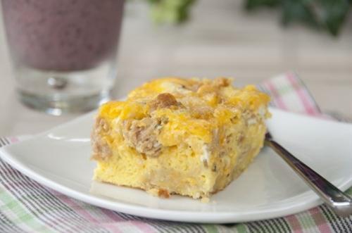 Buttermilk Biscuit and Egg Breakfast Cobbler