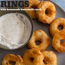 Potato Rings with Homemade Buttermilk Ranch