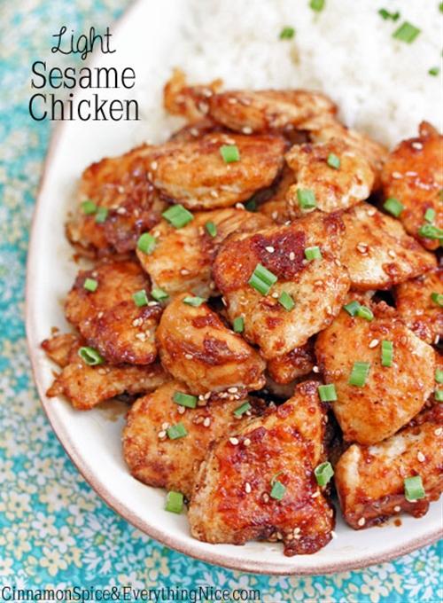 Light Sesame Chicken