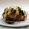 Baked potatoes with broccoli & an amazing cheese sauce