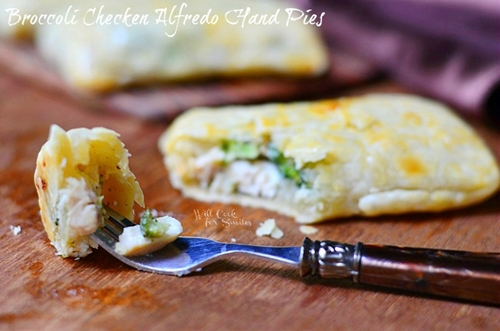Broccoli Chicken Alfredo Hand Pies