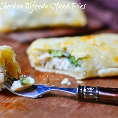 Broccoli Chicken Alfredo Hand Pies