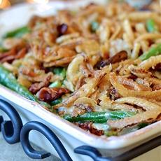 Green Bean Casserole with Bacon
