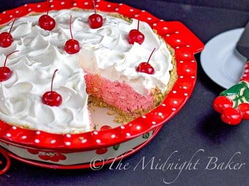 No Bake Cherries Jubilee Pie