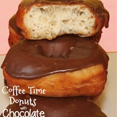 Coffee Time Donuts with Chocolate Glaze