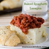Baked Spaghetti Lasagna {aka Spasagna}