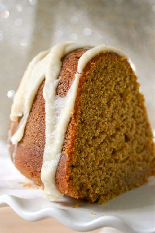 Pumpkin Buttermilk Bundt Cake with Brown Butter Icing ...