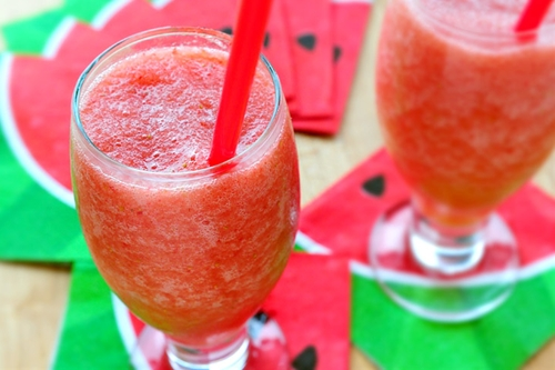 Strawberry Watermelon Rum Smoothies