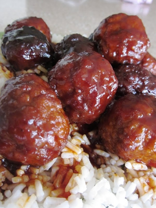 Slow Cooker Sweet and Tangy Meatballs